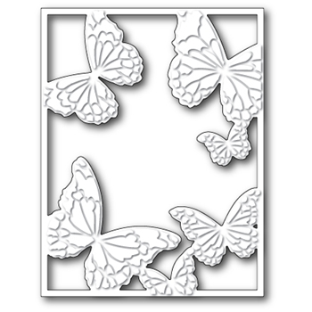 Memory Box HOVERING BUTTERFLY FRAME Craft Die 99372