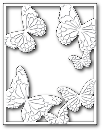Memory Box HOVERING BUTTERFLY FRAME Craft Die 99372 zoom image
