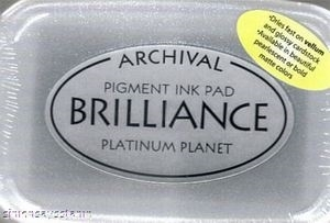 Tsukineko Brilliance PLATINUM PLANET Archival Ink Pad BR-92