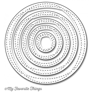 My Favorite Things Wonky Stitch Circle dies