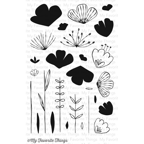 My Favorite Things SKETCHED BLOOMS Clear Stamps CS98 Preview Image