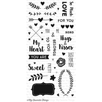 My Favorite Things SO MUCH LOVE Clear Stamps CS104*