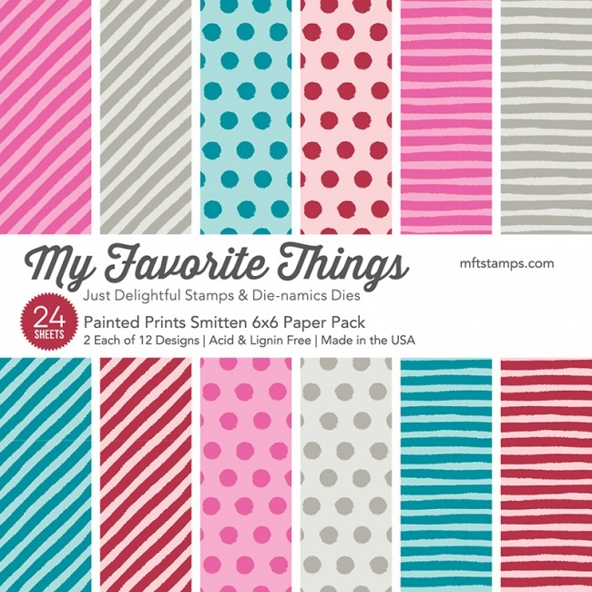 My Favorite Things PAINTED PRINTS SMITTEN 6x6 Paper Pack 01219 zoom image