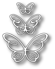 Memory Box DEVYN BUTTERFLY TRIO POPPY STAMPS Craft Die 1378 Preview Image