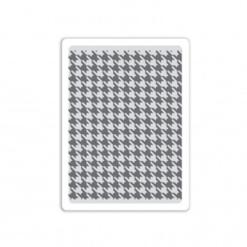 RESERVE Tim Holtz Sizzix HOUNDSTOOTH Texture Fades Embossing Folder 661201