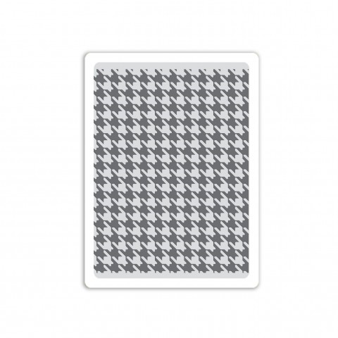 Tim Holtz Sizzix HOUNDSTOOTH Texture Fades Embossing Folder 661201 zoom image