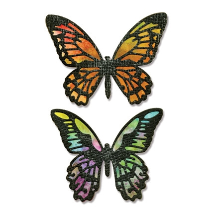 Tim Holtz Sizzix DETAILED BUTTERFLIES Thinlits Die 661182 Preview Image