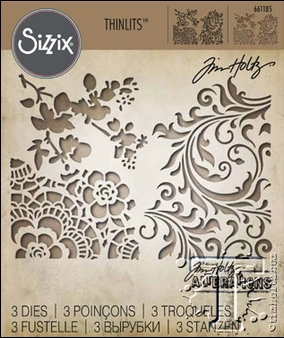 RESERVE Tim Holtz Sizzix MIXED MEDIA 2 Thinlits Die 661185