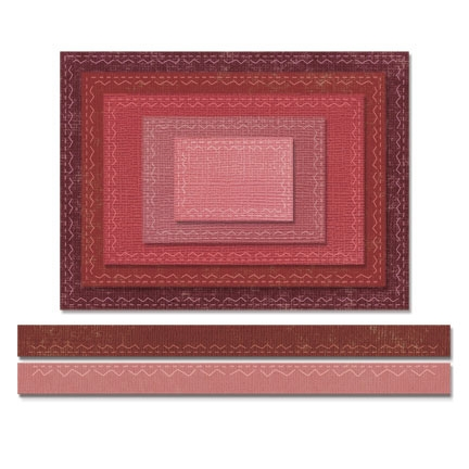 Tim Holtz Sizzix STITCHED RECTANGLES Thinlits Die 661189 Preview Image