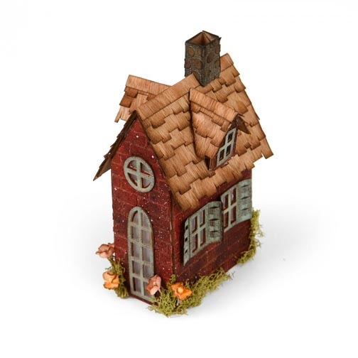 Tim Holtz Sizzix VILLAGE BROWNSTONE Bigz XL Die 661205 zoom image