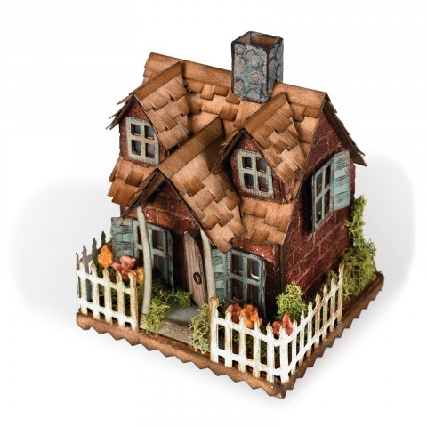 Tim Holtz Sizzix VILLAGE COTTAGE Bigz Die 661196 Preview Image