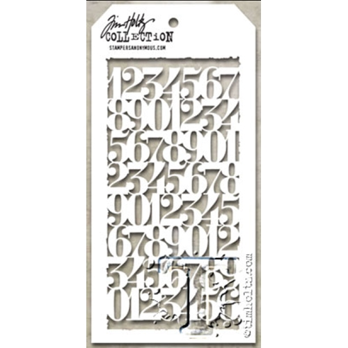 Tim Holtz Layering Stencil COUNTDOWN THS058 Preview Image
