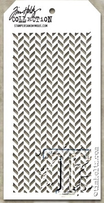 Tim Holtz Layering Stencil HERRINGBONE THS057 Preview Image