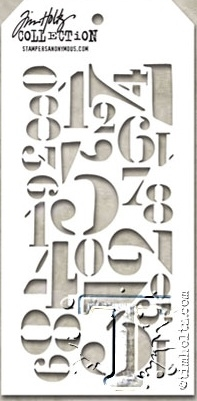 Tim Holtz Layering Stencil NUMERIC THS054 Preview Image