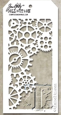 Tim Holtz Layering Stencil GEARS THS052 Preview Image