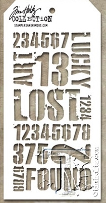 Tim Holtz Layering Stencil INDUSTRIAL THS051 Preview Image