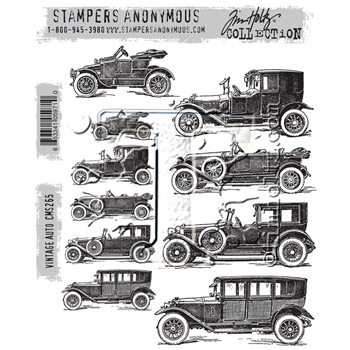 RESERVE Tim Holtz Cling Rubber Stamps 2016 VINTAGE AUTO CMS265