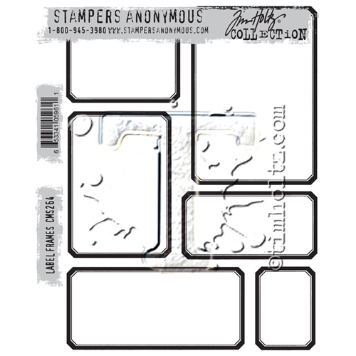 Tim Holtz Cling Rubber Stamps LABEL FRAMES CMS264 Preview Image