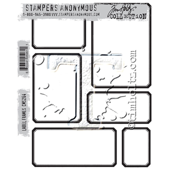 RESERVE Tim Holtz Cling Rubber Stamps 2016 LABEL FRAMES CMS264