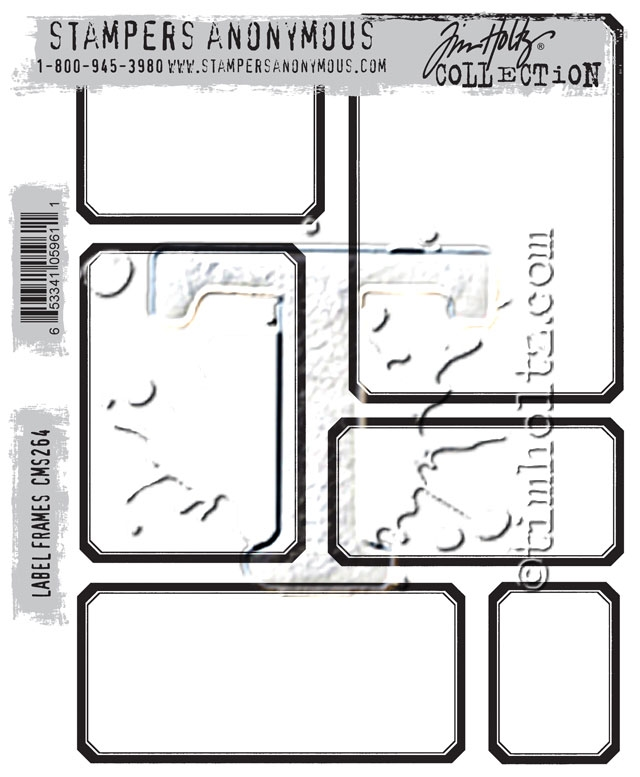 Tim Holtz Cling Rubber Stamps LABEL FRAMES CMS264 zoom image