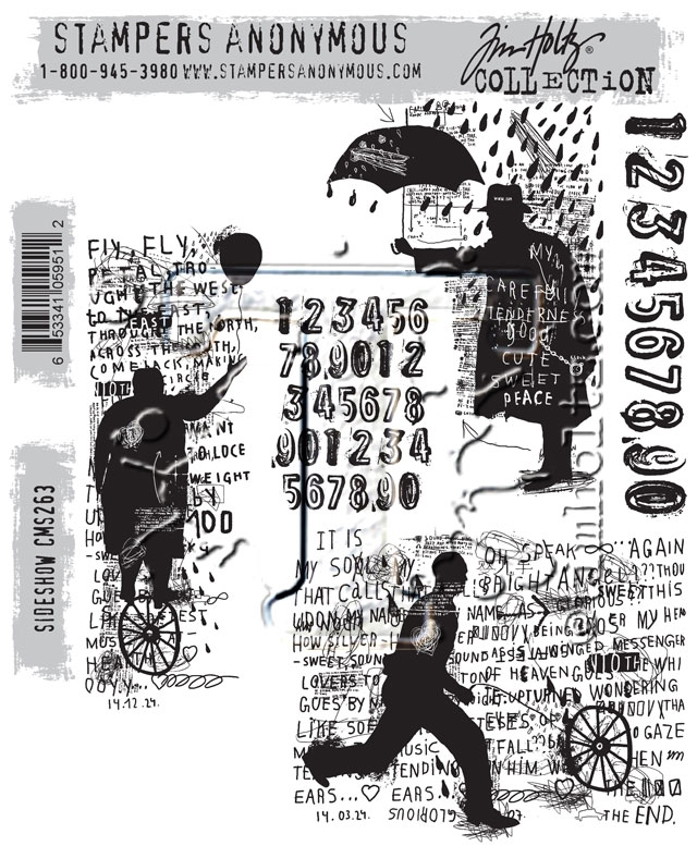 Tim Holtz Cling Rubber Stamps SIDESHOW CMS263 zoom image