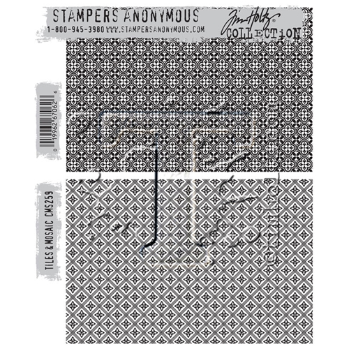 Tim Holtz Cling Rubber Stamps TILES AND MOSAIC CMS259 Preview Image
