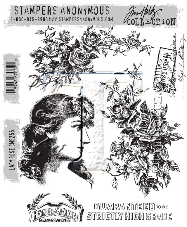Tim Holtz Cling Rubber Stamps 2016 LADY ROSE CMS255 zoom image