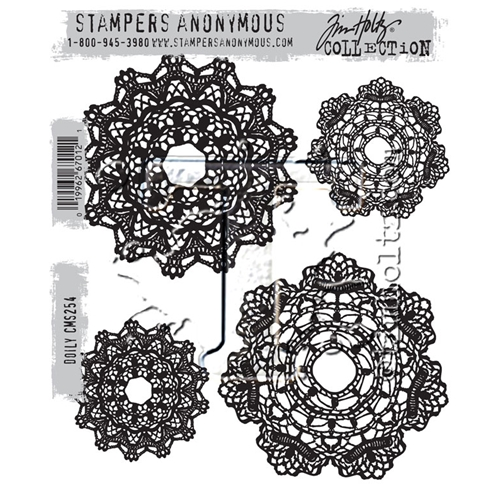 Tim Holtz Cling Rubber Stamps DOILY CMS254 Preview Image