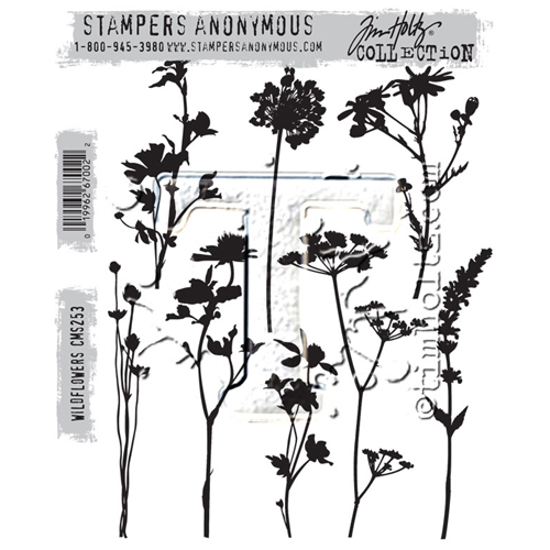 Tim Holtz Wildflowers Cling Stamp Set