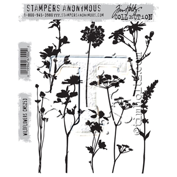Tim Holtz Cling Rubber Stamps 2016 WILDFLOWERS CMS253