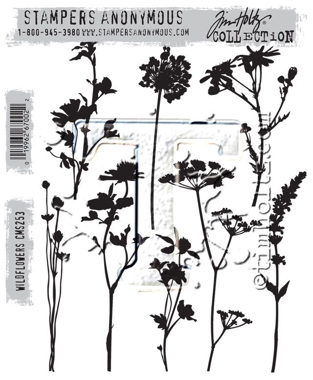 Tim Holtz Cling Rubber Stamps WILDFLOWERS CMS253 zoom image
