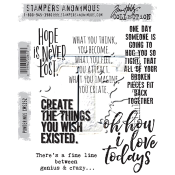 Tim Holtz Cling Rubber Stamps 2016 PONDERINGS CMS252