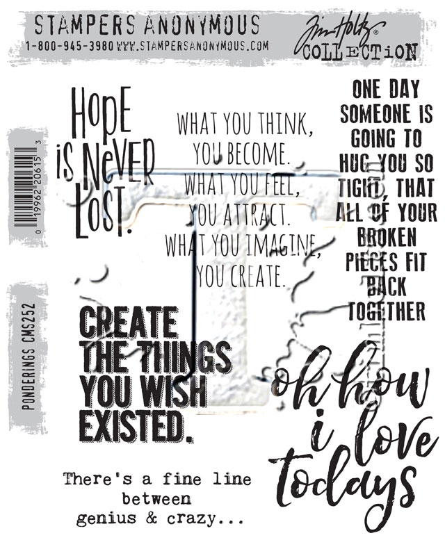 Tim Holtz Cling Rubber Stamps PONDERINGS CMS252 zoom image