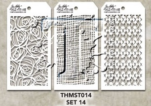 Tim Holtz MINI STENCIL SET 14 MST014