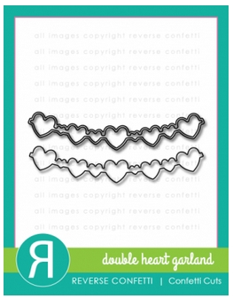 Reverse Confetti DOUBLE HEART GARLAND Confetti Cuts Die Set Preview Image