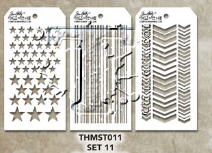 Tim Holtz MINI STENCIL SET 11 MST011
