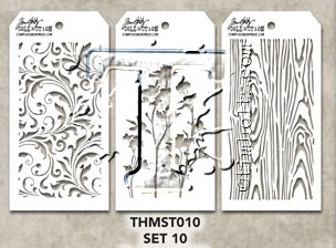 Tim Holtz MINI STENCIL SET 10 MST010