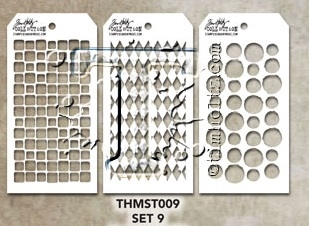 Tim Holtz MINI STENCIL SET 9 MST009 zoom image