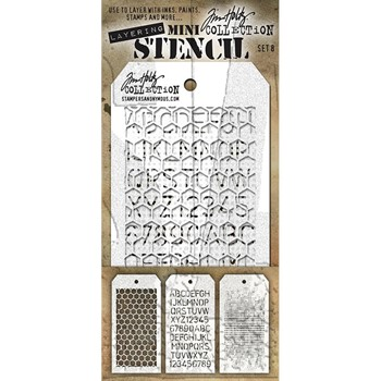Tim Holtz MINI STENCIL SET 8 MST008