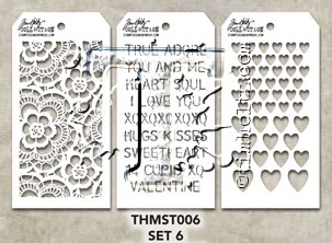 Tim Holtz MINI STENCIL SET 6 MST006