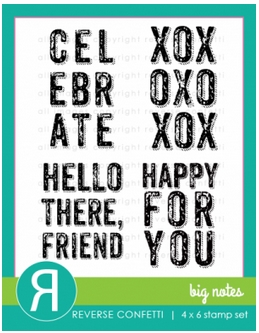 Reverse Confetti BIG NOTES Clear Stamp Set Preview Image