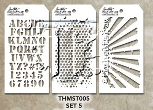 Tim Holtz Set 5 Mini Layering Stencil Set