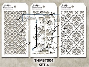 Tim Holtz MINI STENCIL SET 4 MST004