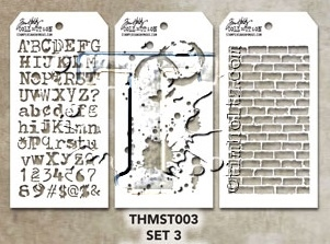 Tim Holtz MINI STENCIL SET 3 MST003