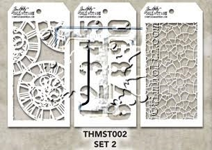 Tim Holtz MINI STENCIL SET 2 MST002