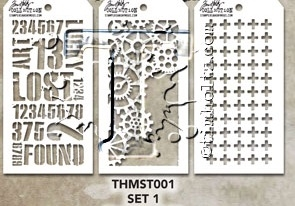 Tim Holtz MINI STENCIL SET 1 MST001