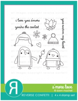 Reverse Confetti SMORE LOVE Clear Stamp Set Preview Image