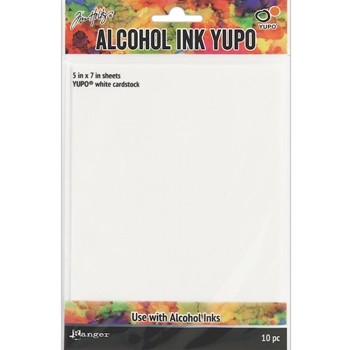 Tim Holtz WHITE ALCOHOL INK YUPO PAPER Ranger TAC49715
