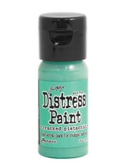Tim Holtz Flip Top Distress Paint CRACKED PISTACHIO Ranger TDF50179 zoom image