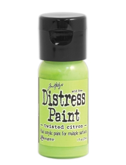 Tim Holtz Flip Top Distress Paint TWISTED CITRON Ranger TDF50216 zoom image